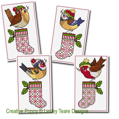 Lesley Teare Designs - Christmas Birdie Greetings