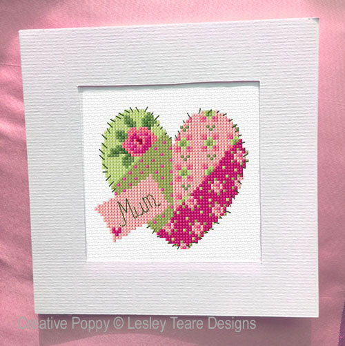 Mother's Day Cards cross stitch pattern by Lesley Teare Designs, zoom 1