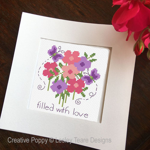Mother's Day Cards cross stitch pattern by Lesley Teare Designs