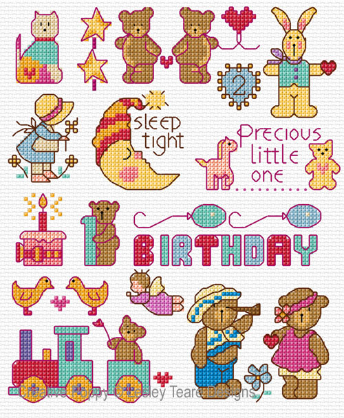 Motifs for Little Ones cross stitch pattern by Lesley Teare Designs