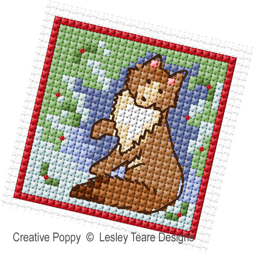 Lesley Teare Designs - Nature's Christmas zoom 1 (cross stitch chart)