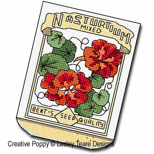 Seed Packets cross stitch pattern by Lesley Teare Designs, zoom3