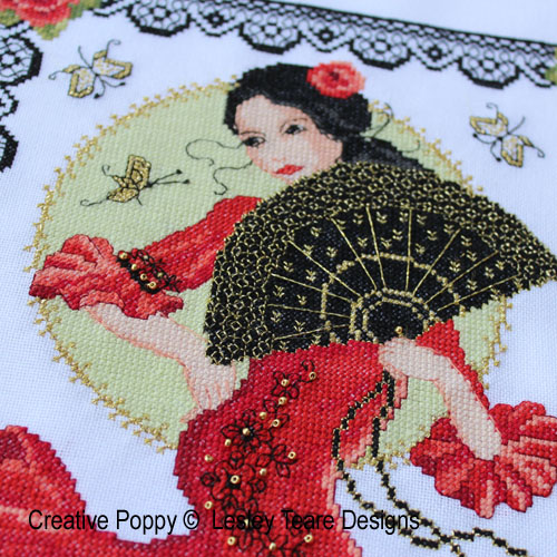 Spanish Dancer cross stitch pattern by Lesley Teare Designs