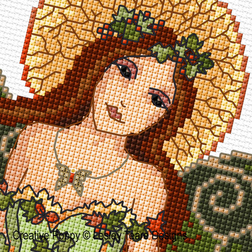 Woodland fairy cross stitch pattern by Lesley Teare Designs, zoom 1
