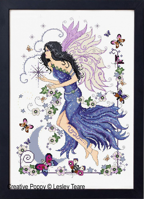 Dusk fairy cross stitch pattern by Lesley Teare