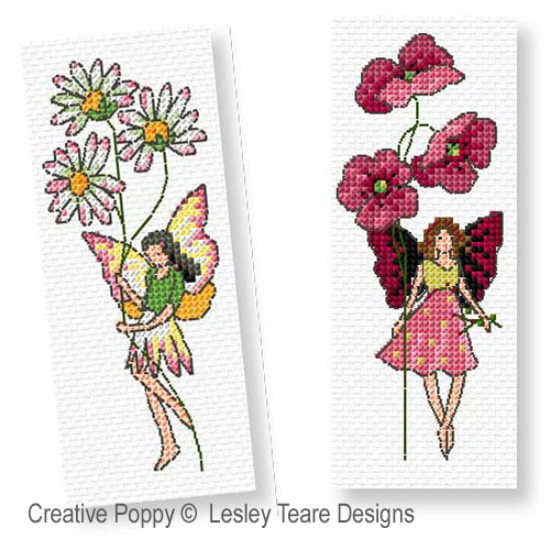 Flower Fairies cross stitch pattern by Lesley Teare, zoom3