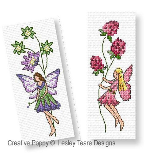 Flower Fairies cross stitch pattern by Lesley Teare