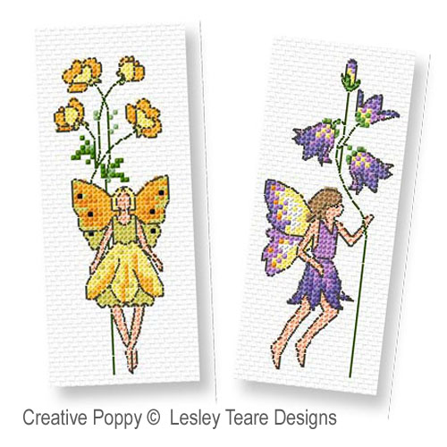 Flower Fairies cross stitch pattern by Lesley Teare, zoom1