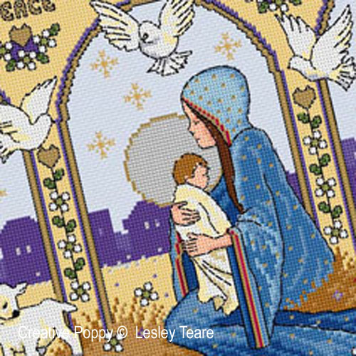 Nativity - cross stitch pattern - by Lesley Teare Designs (zoom 1)
