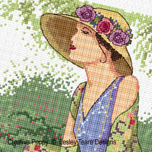 Summer Breeze cross stitch pattern by Lesley Teare Designs, zoom 1