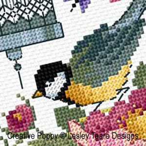 Vintage Charm cross stitch pattern by Lesley Teare Designs, zoom 1