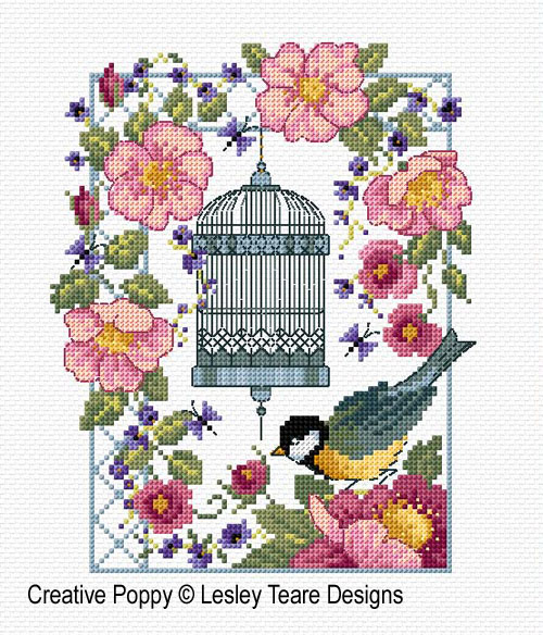 Vintage Charm cross stitch pattern by Lesley Teare Designs