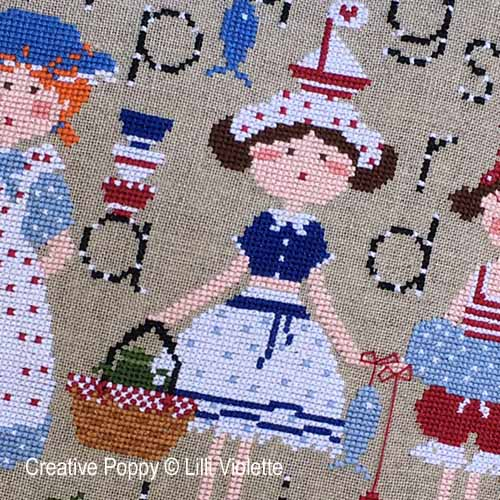 A day at the Seaside cross stitch pattern by Lilli Violette