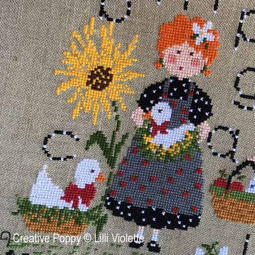 A day in the Countryside cross stitch pattern by Lilli Violette, zoom 1