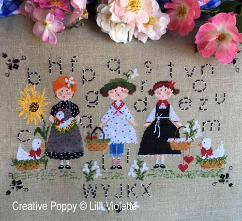A day in the Countryside cross stitch pattern by Lilli Violette