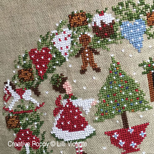 Christmas Biscuits cross stitch pattern by Lilli Violette, zoom 1