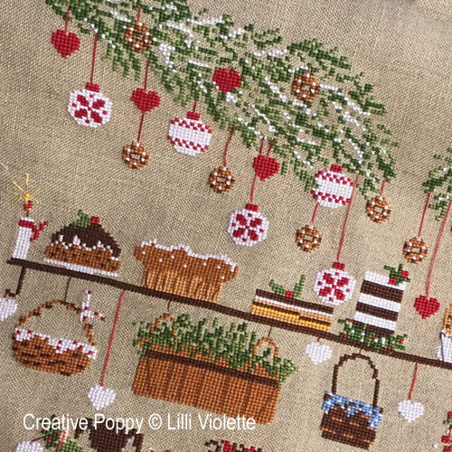 Christmas Eve cross stitch pattern by Lilli Violette, zoom 1