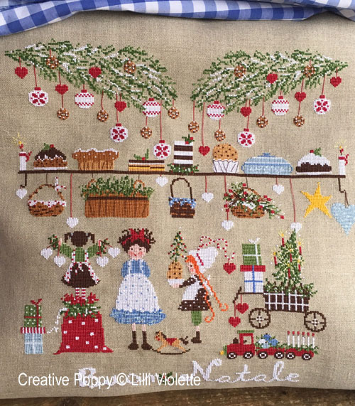 Christmas Eve cross stitch pattern by Lilli Violette