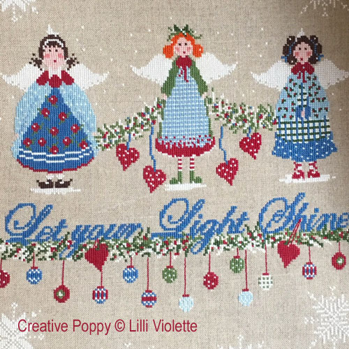 Christmas Lights cross stitch pattern by Lilli Violette, zoom 1
