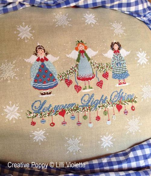 Christmas Lights cross stitch pattern by Lilli Violette