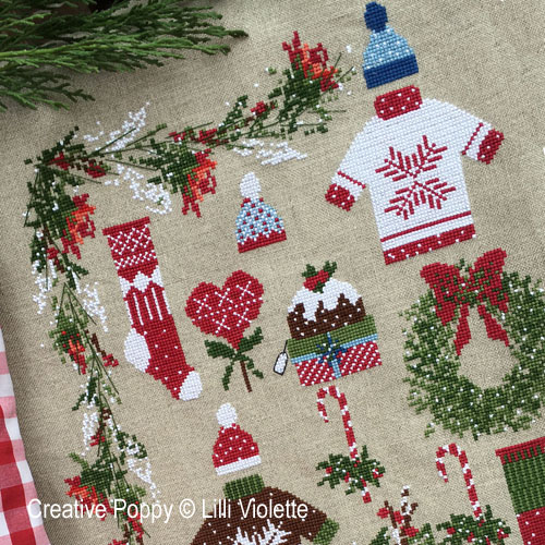 Dear Santa cross stitch pattern by Lilli Violette, zoom 1