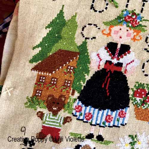 Edelweiss cross stitch pattern by Lilli Violette