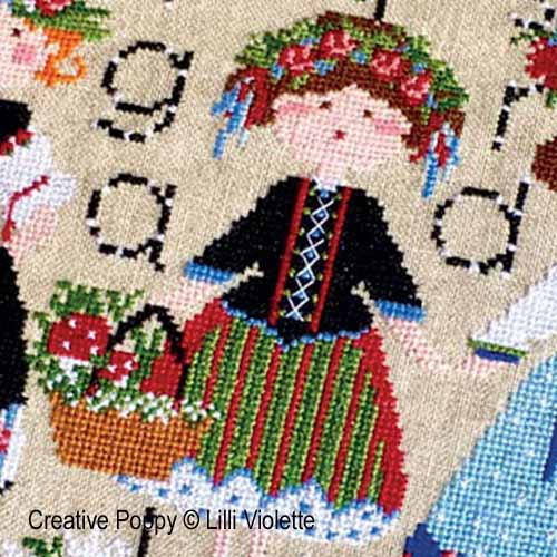 Edelweiss cross stitch pattern by Lilli Violette, zoom 1
