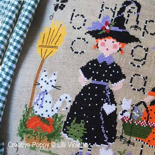 Halloween Party cross stitch pattern by Lilli Violette, zoom 1