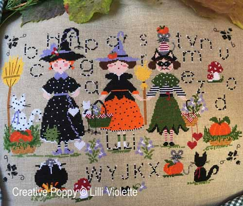 Halloween Party cross stitch pattern by Lilli Violette