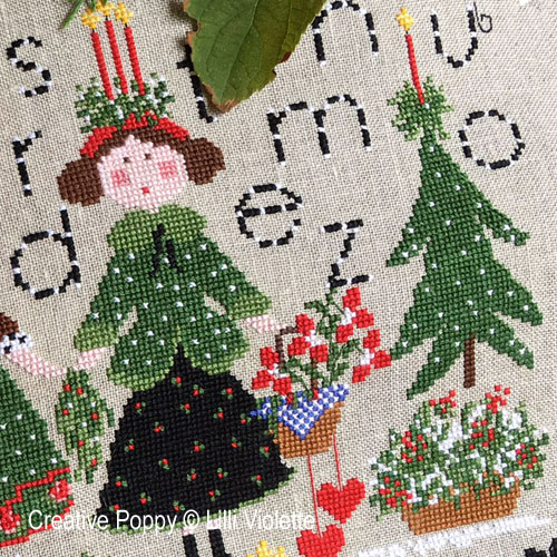 Natale con Te cross stitch pattern by Lilli Violette, zoom 1