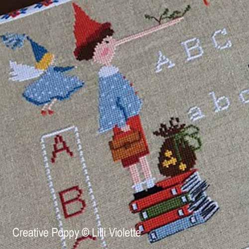 Lilli Violette - Pinocchio zoom 1 (cross stitch chart)