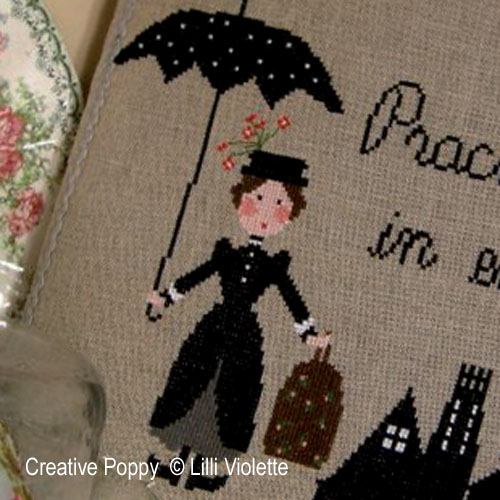 Practically Perfect cross stitch pattern by Lilli Violette