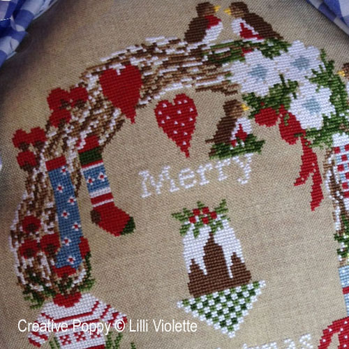 Sweet Christmas cross stitch pattern by Lilli Violette