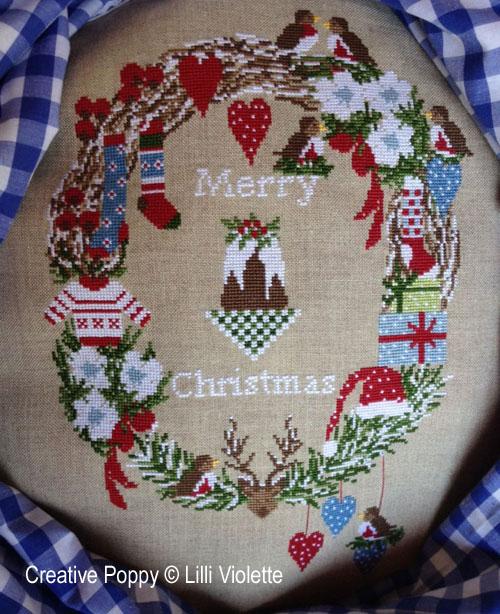 Sweet Christmas cross stitch pattern by Lilli Violette