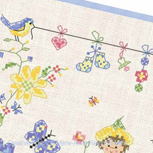 Garden Baby Boy cross stitch pattern by Marie-Anne Réthoret-Melin, zoom2