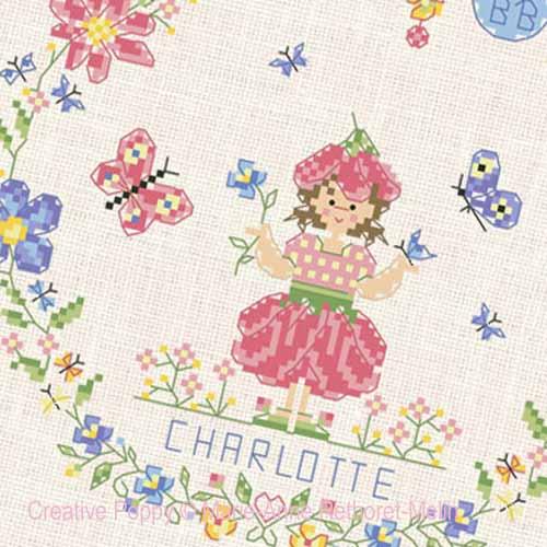 Garden Baby Boy cross stitch pattern by Marie-Anne Réthoret-Melin, zoom3
