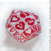 Love Hearts Biscornu
