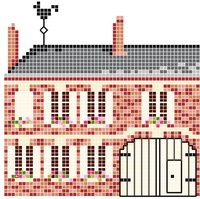 <b>Countryside Home sweet home</b><br>cross stitch pattern<br>by <b>Monique Bonnin</b>