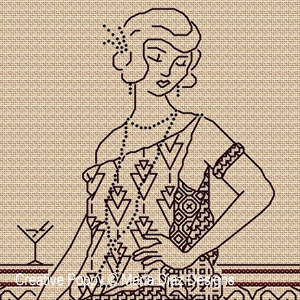 Blackwork Lady