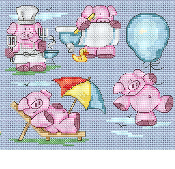 11 Cute Summer Pigs