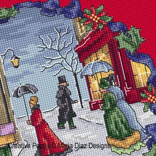 Maria Diaz Victorian Christmas Cross Stitch Pattern