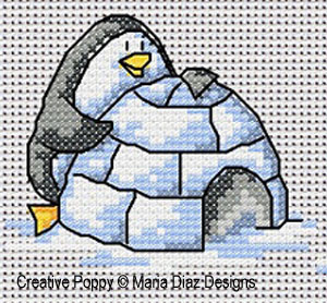 Polar animals patterns to cross stitch
