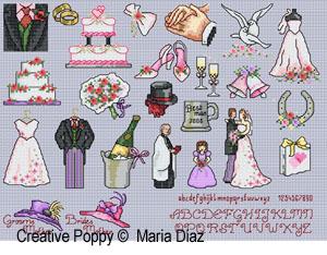 Bride and Groom's mothers' hats - Wedding mini motifs