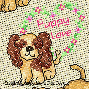 Puppy Love Cross stitch Mini motifs