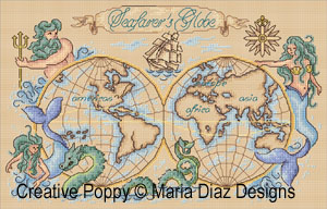 Seafarer's Globe cross stitch pattern by Maria Diaz