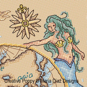 Mermaid patterns to cross stitch