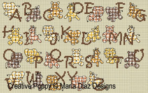 Sepia Baby Jungle Alphabet