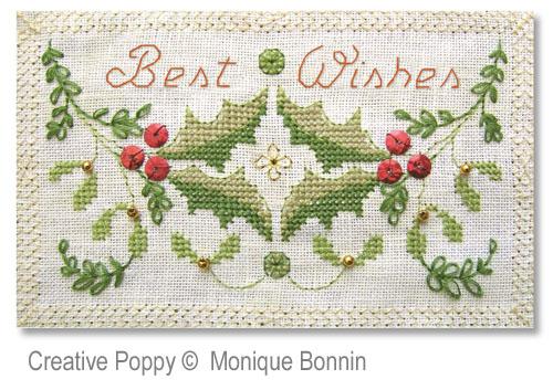 Monique bonnin best wishes greeting card cross stitch pattern monique bonnin best wishes greeting card zoom 3 cross stitch chart m4hsunfo