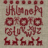 Scandinavian Christmas cross stitch pattern by Agnès Delage-Calvet, zoom 1