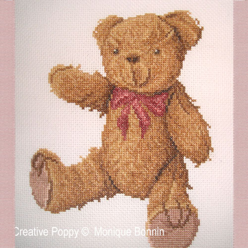 Teddy bear pattern designed by Monique Bonnin